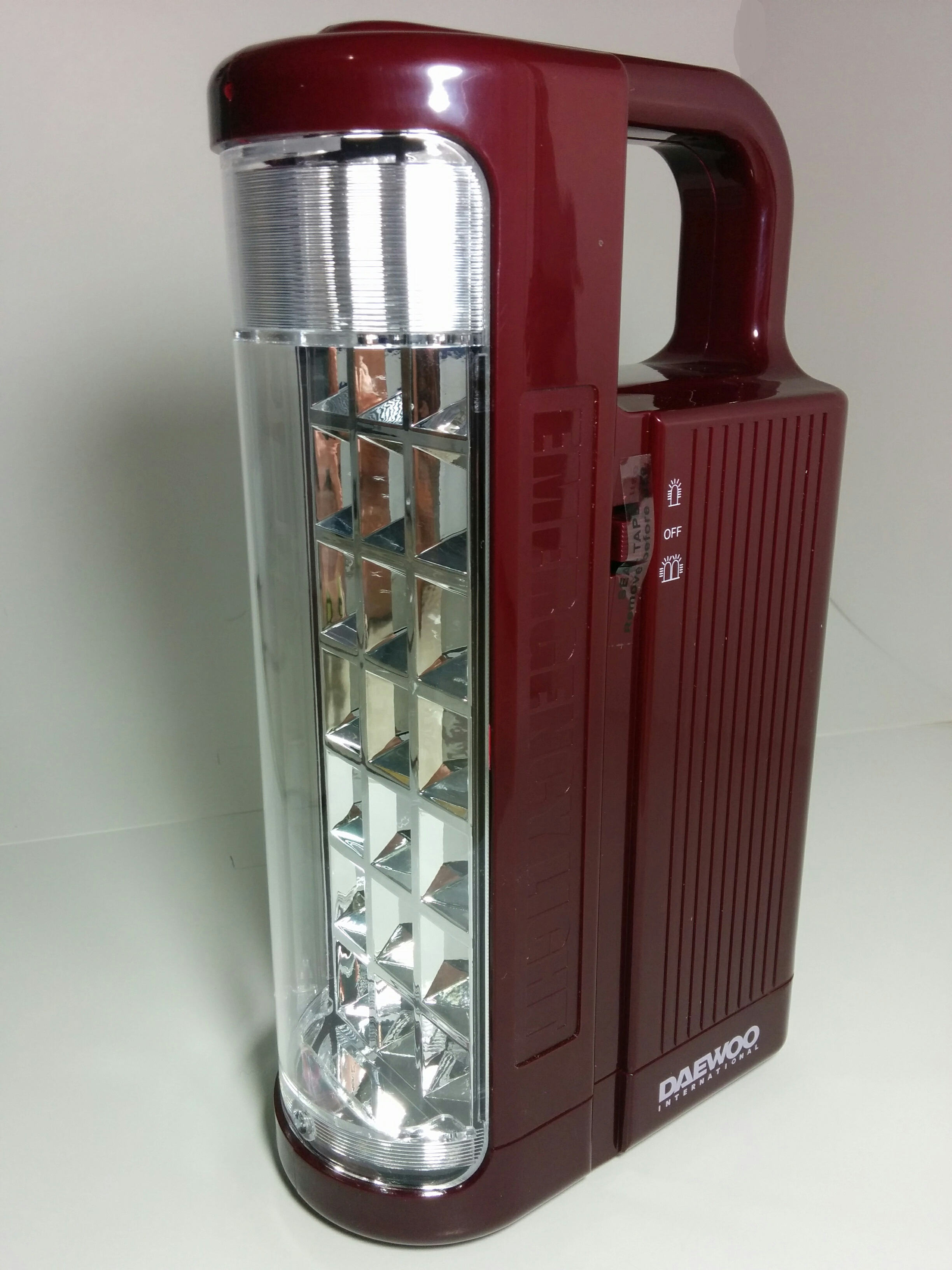 daewoo 220 volt rechargeable emergency lantern lg a to z appliances. Black Bedroom Furniture Sets. Home Design Ideas