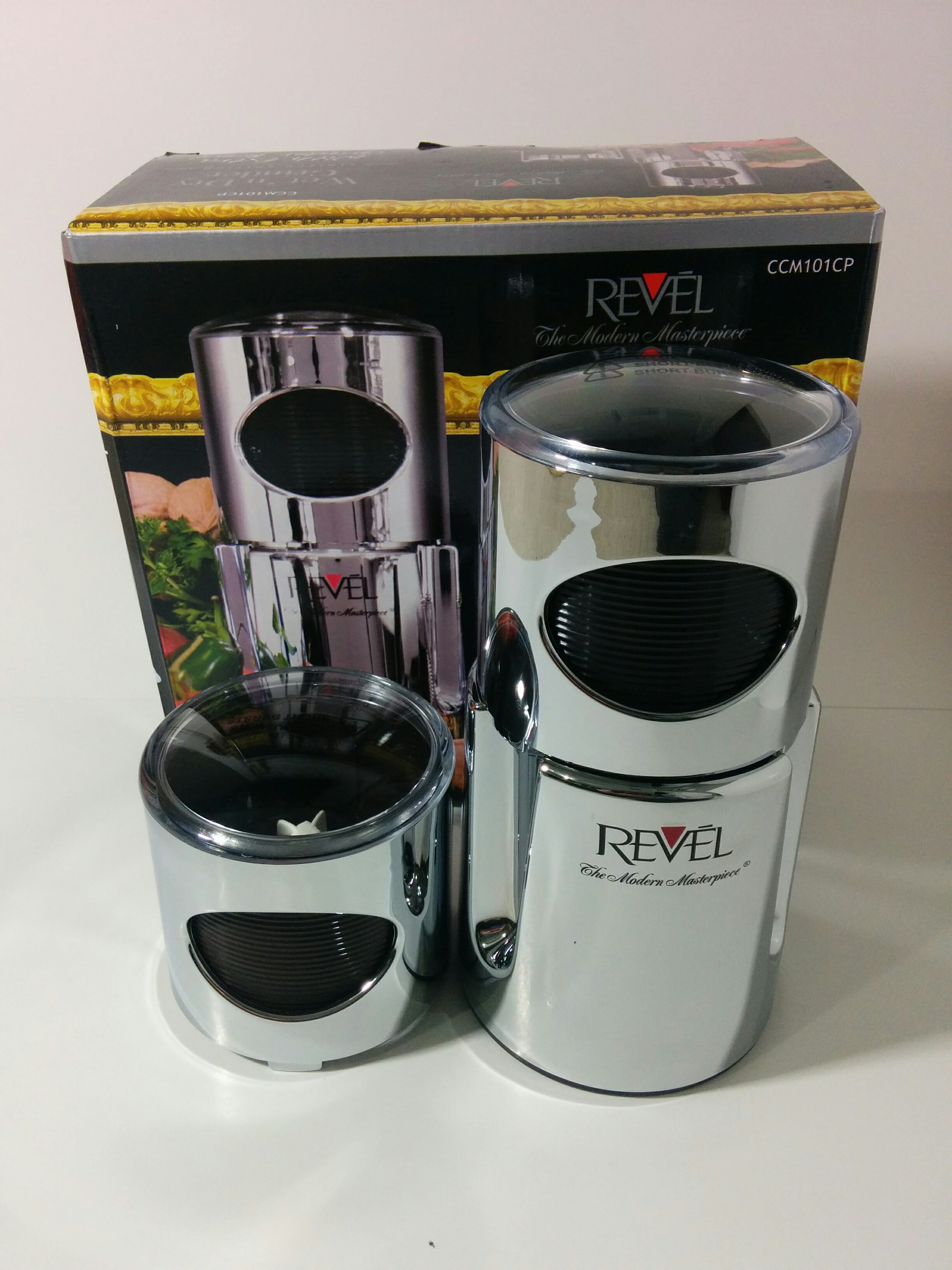 Revel Wet Amp Dry Grinder 2 Chrome Cups A To Z Appliances